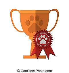 trophy of pet competition