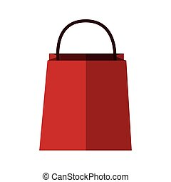 shopping bag icon over white background. colorful design....