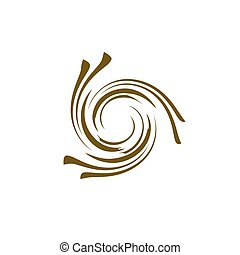 Abstract swirl logo