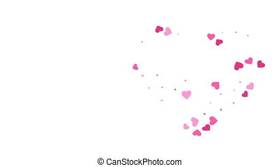 Hearts formed by Hearts Animation. Motion graphic