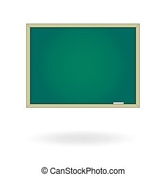 Blank chalk board. Drawing cartoon illustration. Template isolated on a white background. Empty space for your text or advertising object.