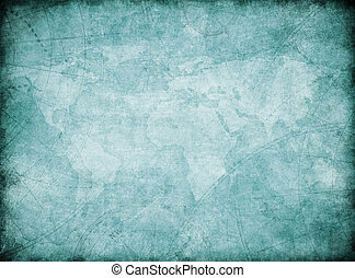 vintage world map background stylization - vintage world map...