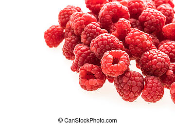 Rasberry fruit - Group of Rasberry fruit isolated on white...