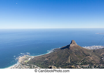 View of Camps Bay, Clifton, Lion's Head and Bantry Bay from...