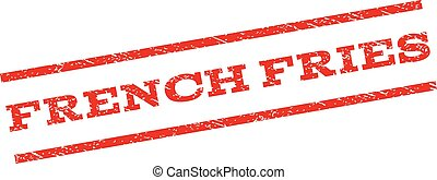 French Fries Watermark Stamp