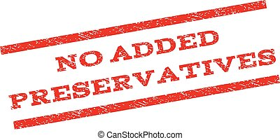 No Added Preservatives Watermark Stamp