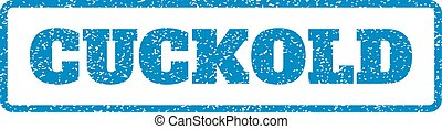 Cuckold Rubber Stamp - Blue rubber seal stamp with Cuckold...