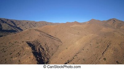 taliouine, marokko, landschaftsbild, bergig, Luftaufnahmen