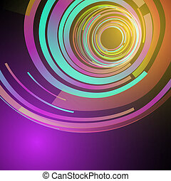 Techno Geometric Vector Curve Modern Science Abstract Background