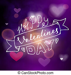 Happy valentines day hand written lettering positive quote,...