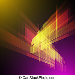 Techno Geometric Vector Modern Science Abstract Background