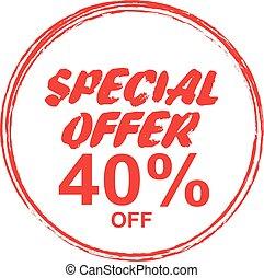 Special Offer Marks, stamp