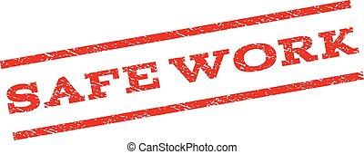 Safe Work Watermark Stamp