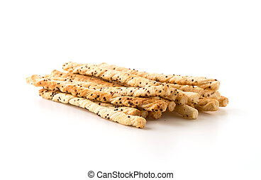 bread stick on white background
