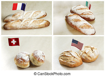 different countries bread