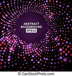Bright Dotted Background Vector. Geometric Flash. Glowing Red Backdrop Halftone