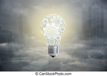 light bulb concept for great idea, innovation and inspiration for business