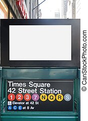 New York City Subway BIllboard - New york city Times square...