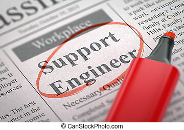 Job Opening Support Engineer. 3D.