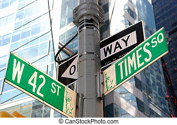 Broadway and 42nd Street Intersection - the intersection of...