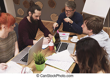 Meeting of business people at the office