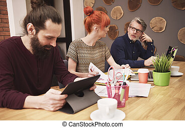 Group of people working at the office