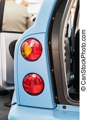 taillights cars with open doors metal detail