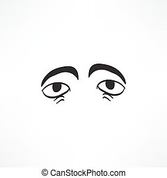 Eye vector sketch icon isolated on background. Hand drawn...