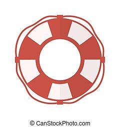 lifebelt, lifebuoy isolated on white
