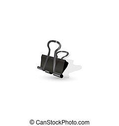 Binder clip icon.