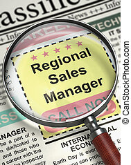 We are Hiring Regional Sales Manager. 3D. - Newspaper with...