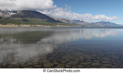 Mountain lake Khoton Nuur in Mongol - Khoton Nuur lake (...