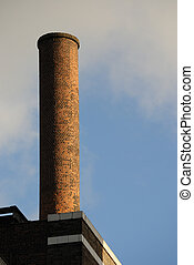 Brick Chimney - An old brick smoke stack