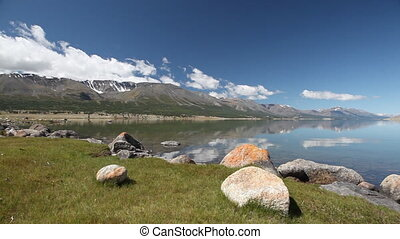 Mountain lake Khoton Nuur in Mongol