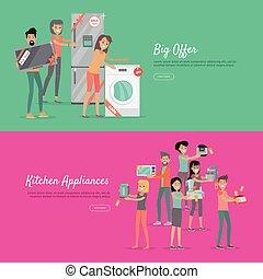 Big Offer Kitchen Appliances Set of People on Sale - Big...