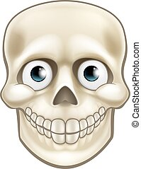 Cartoon Halloween Skull Skeleton Character - Cartoon...