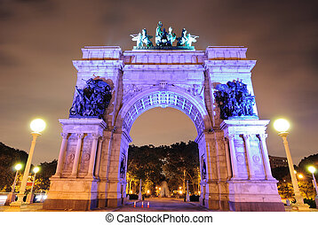 Grand Army Plaza in Brooklyn New York City commemorating the...