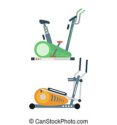 Treadmill illustration. - Treadmill isolated on white...