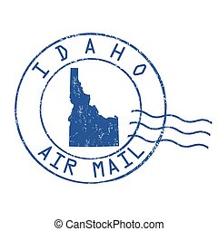 Idaho post office sign or stamp - Idaho post office, air...