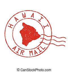 Hawaii post office sign or stamp - Hawaii post office, air...