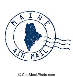 Maine post office sign or stamp - Maine post office, air...