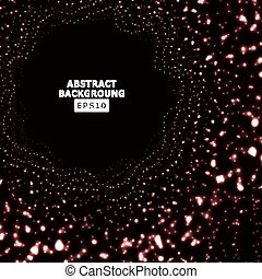 Glowing Background Halftone. Technology Concept. Vector Digital Explosion