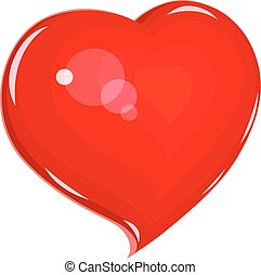 Heart. Symbol love for saint Valentines day. Holiday lovers....