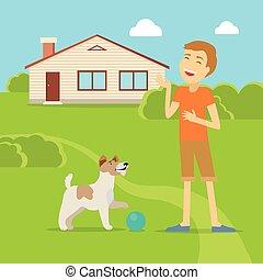 Sanguine Temperament Type Boy with Dog. - Sanguine...