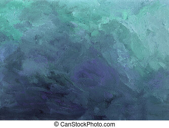 Acrylic painting background structure that suggests a storm