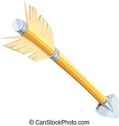 Arrow for bow shooting vector illustration. Eps10 - Arrow...