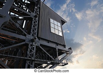 Gantry - a gantry, machinery for lifting boats and other...