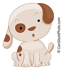 Cute Dog with Clipping Path