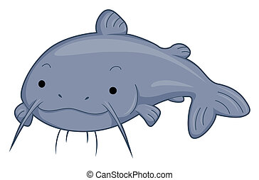 Cute Catfish with Clipping Path