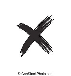 Cross sign grunge element - Cross sign element. Black grunge...